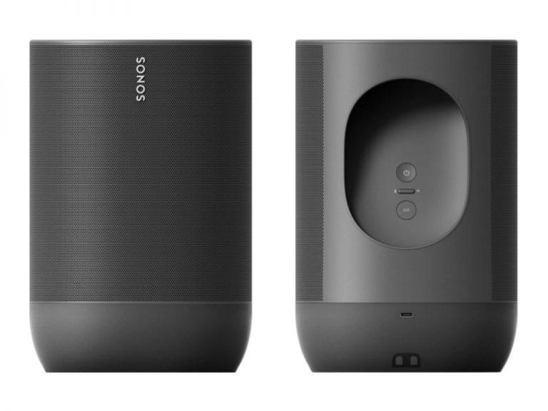 Imagen frontal y trasera del Sonos Move