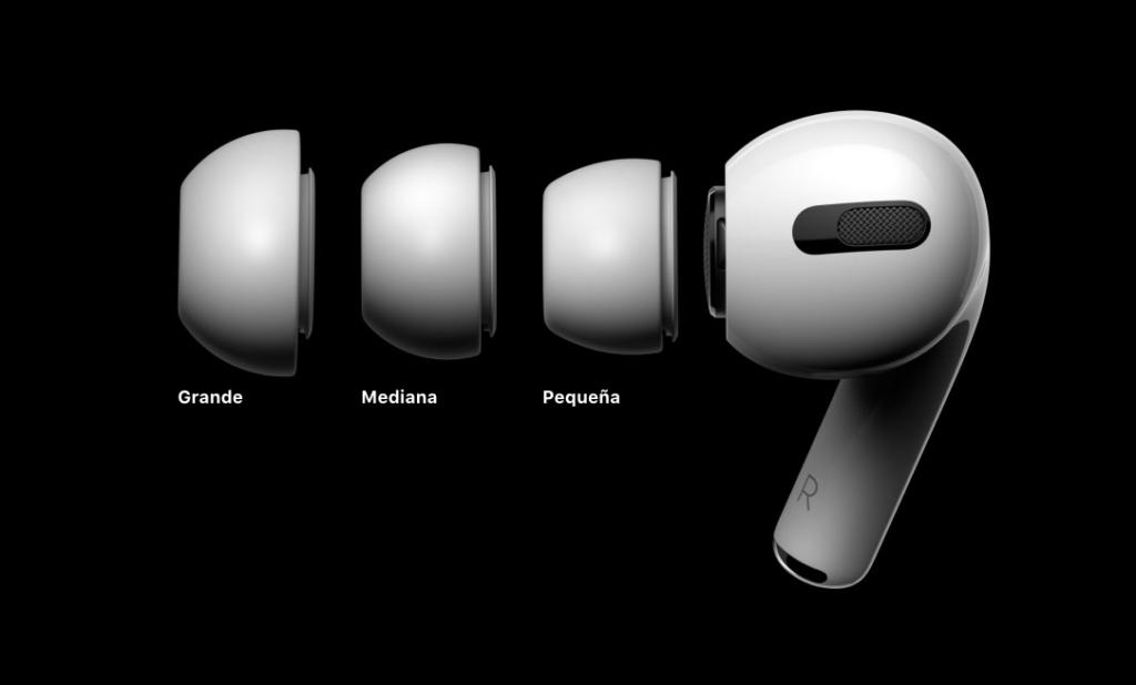 3 tamaños de almohadillas de los AirPods Pro